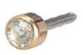 Belőhető és hordható fülbevaló Arany – titánium